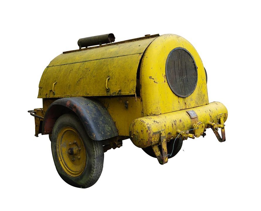 žlutý kompresor