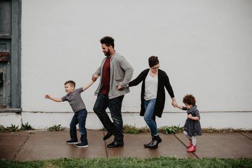 rodina venku
